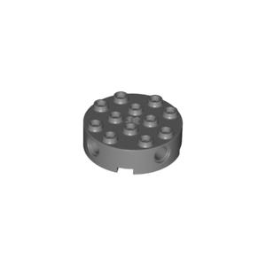 grey NEUF NEW Round Brick 4x4 LEGO x 4 // 87081-4558959 Brique Ronde gris