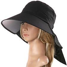 25f61d274 Anti UV Hat Summer Bill Flap Cap UPF 50 Cotton Sun Neck Cover Cord ...
