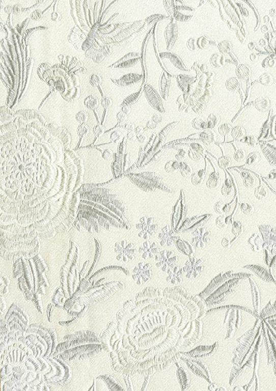 Smita Tapete Missoni M1a10012 Fleurs Matériel Optique Brodé Papier Peint Vinyle
