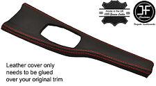 RED STITCH CONSOLE TRIM LEATHER COVER FITS BMW 3 4 SERIES F30 F32 F35 F36