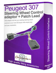 Peugeot 307 car stereo lead adaptor, Connect your Steering Wheel stalk controls