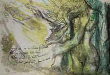 """""""Dans l'eau claire de la fontaine G. BRASSENS"""" Lithographie signée Pierre PARSUS"""