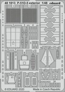 Eduard-Accessories-481013-1-48-P-51D-5-Exterieur-pour-Airfix-Neuf