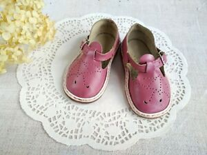 4feed74c06407 Vintage Soviet Pink Sandals US 5 Leather Baby Shoes Perforated ...