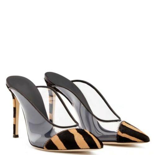 Details about  /Trendy Women/'s Pointy Toe High Heels Stilettos Wedding Slipper Mules OL Party L
