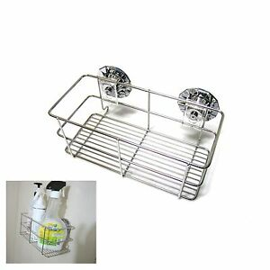 Goodsense Vacuum Suction Caddy For Bathroom Stainless Steel Wire Wall Storage