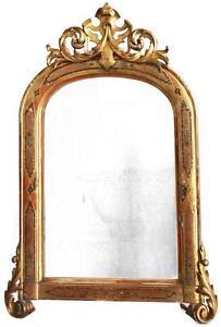 Miroir-en-bois-et-stuc-dore-et-polychromie-Napoleon-III