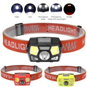 USB Rechargeable LED Headlamp Head Torch Flashlight Work light Headlight UK