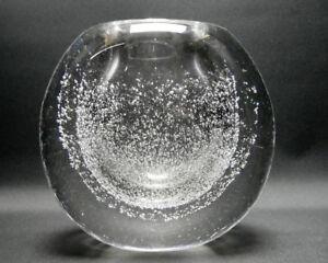 Dickwandige-Vase-mit-Lufteinschluessen-mundgeblasen-60er-Jahre-8-2-kg-schwer