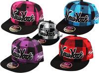 K I Headwear LUMBERJACK New York NY Snapback Check Snap Back Cap Hat