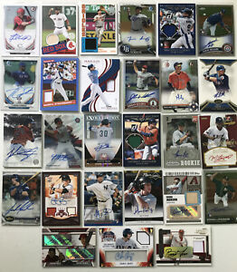 AUTO-GAME-USED-RELIC-30-Card-Lot-Baseball-Hot-Pack-1-HIT-Guaranteed