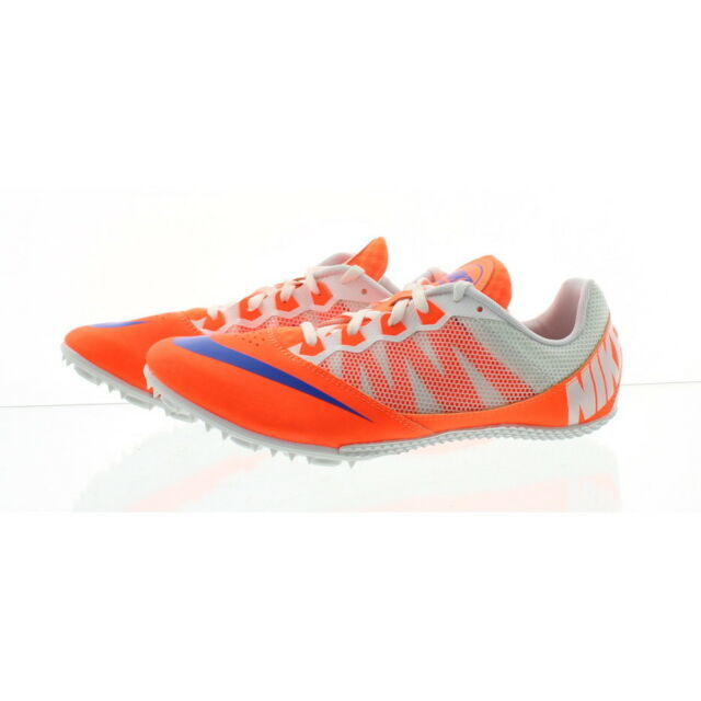 cheaper a7e72 046ab Nike Zoom Rival S 7 Mens Track Field Spikes Sprint Shoes Orange Size ...