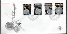 Dutch Antilles / Aruba - 1988 Coins - Mi. 40-43 clean unaddressed FDC