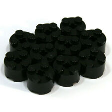 Lego Black 1x2x2 Round Cylinder Brick - 10 Parts - 6143 614326 - NEW