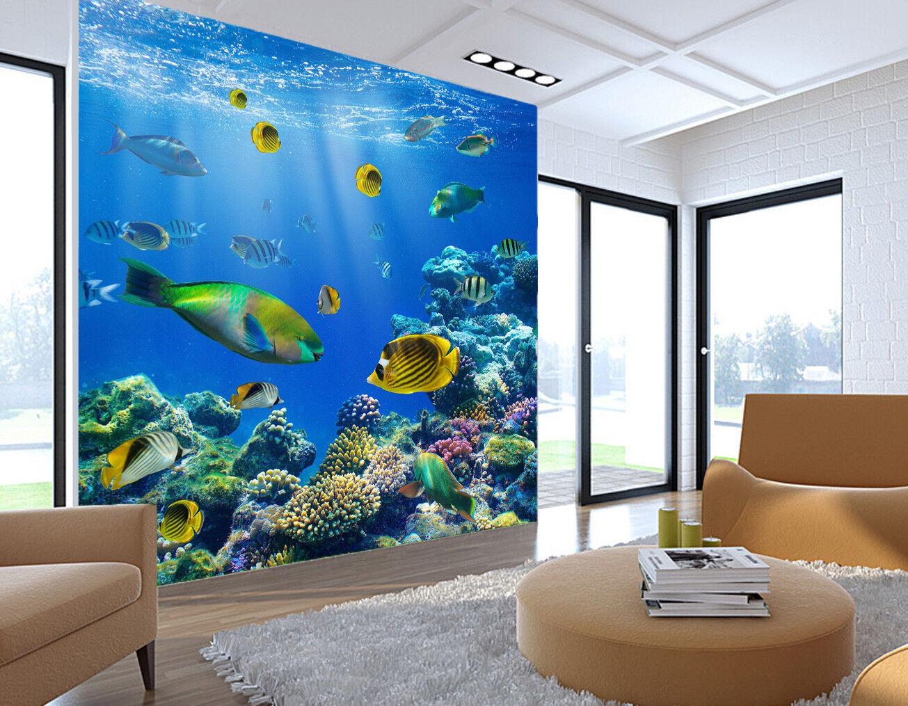 3D Sunshine Clownfishs  74 Wall Paper Murals Wall Print Wall Wallpaper Mural AU