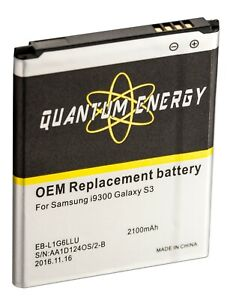 Details about QUANTUM ENERGY OEM Replacement Battery for Samsung Galaxy S3  (36 Month Warranty)
