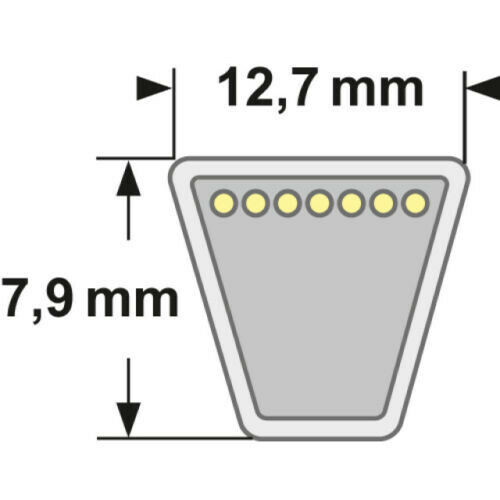 autoportantes correas de transmisión Dolmar 664 061 404 correas trapezoidales para rm-72-13 H a partir de 07