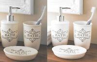 Retro Ceramic Bathroom Accessory Set Soap Dispenser Tumbler Toothbrush Holder
