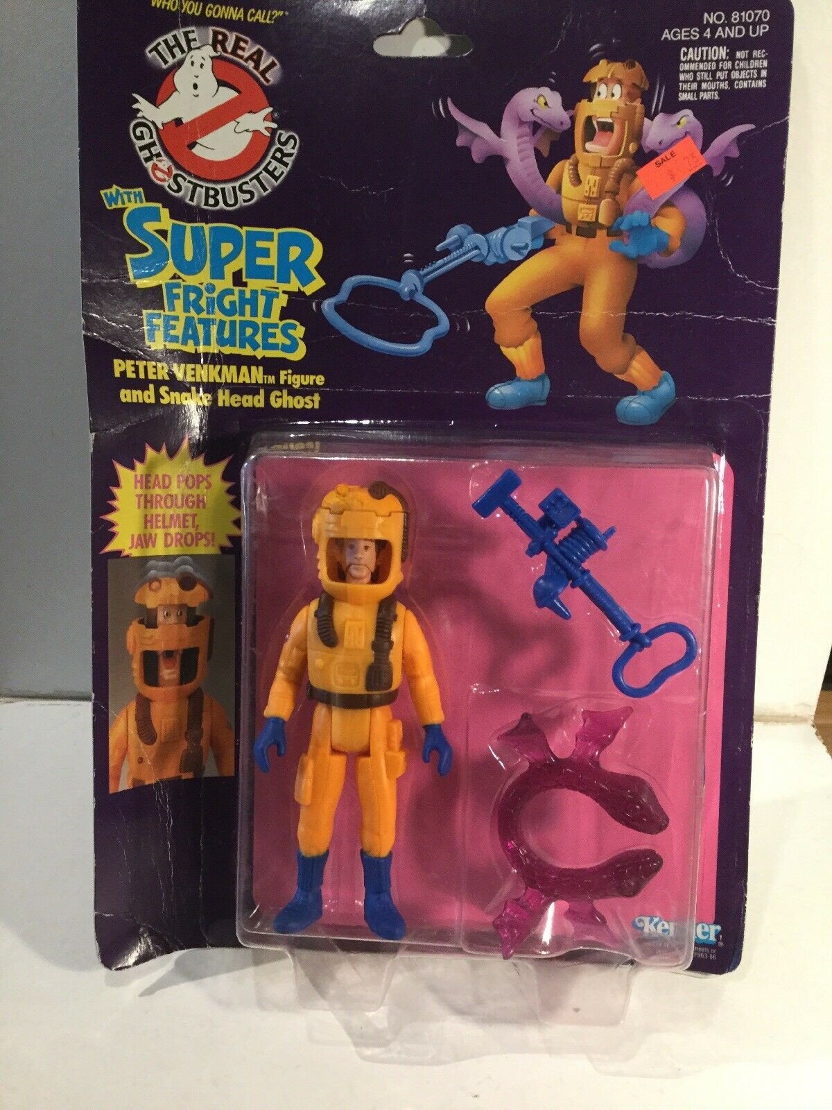1980's Kenner The Real Ghostbusters Peter Venkman & Snake Head Ghost Sealed