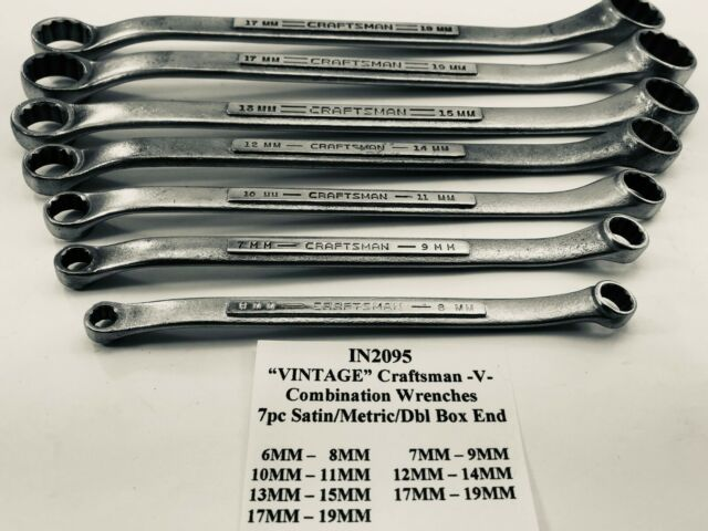 Craftsman OFFSET SAE Metric BOX END FULLY POLISHED 12pt Combination Wrenches