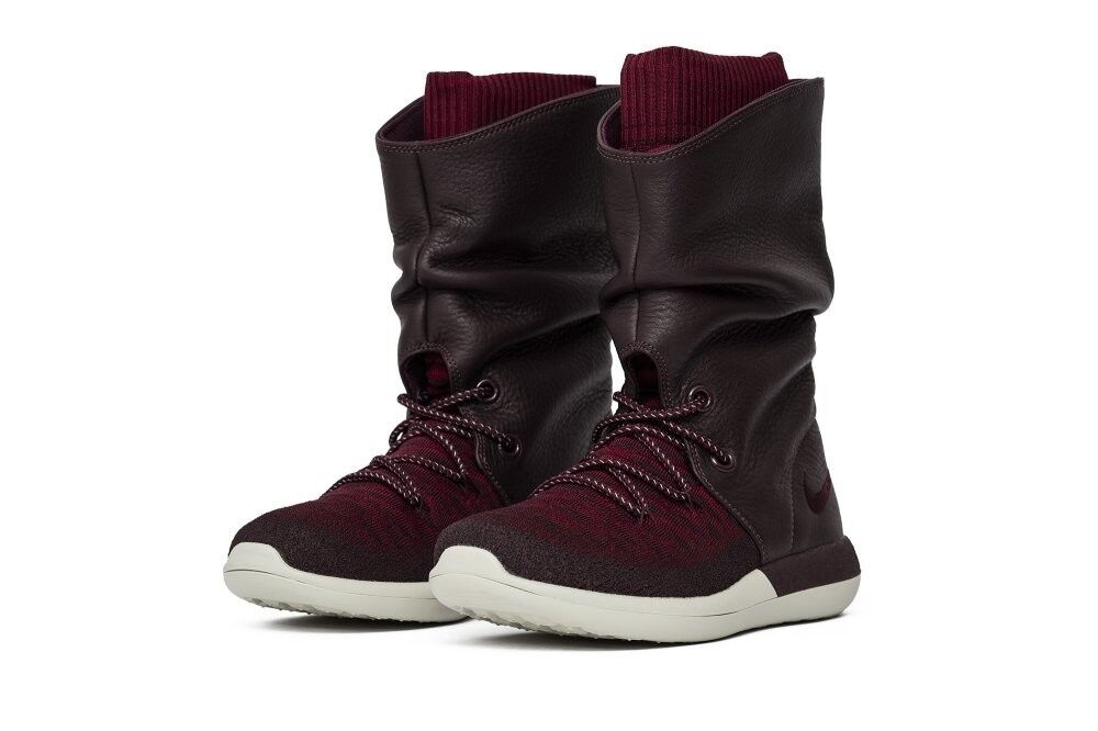 Nike woman roshe Two Flyknit Hi Boots 861708-600 Red altoalta New shoes
