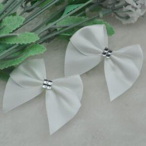 60pcs Velvet Ribbon Bows Flower Appliques Sewing Craft Lots U pick A2031