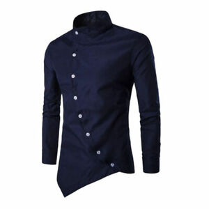 Luxury-Men-039-s-Long-Sleeve-Casual-T-Shirt-Tops-Casual-Formal-Slim-Tee-Shirt-Shirts