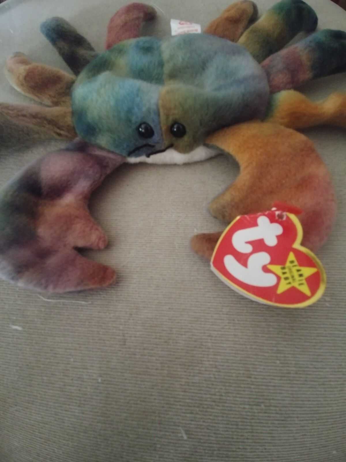 TY Beanie Baby CLAUDE The Crab 1996 EXTREMELY RARE  PROFITS FOR MISSIONS