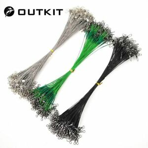 20PCS-lot-Fishing-Lure-Trace-Rope-Wire-Leader-Line-Swivel-Tackle-Spinner