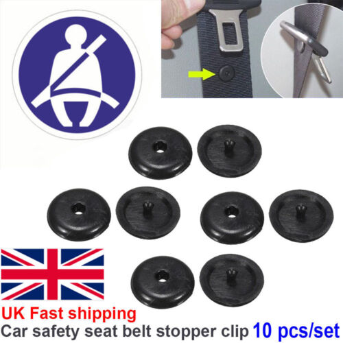 10Pcs Universal Car Seat Belt Stopper Buckle Button Fastener Safety Part Clip rt