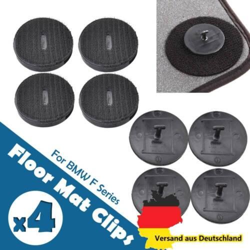 4x Für BMW Fußmatten Clip Befestigung 9166609 1er 3er 5er 7er Klettteller Halter