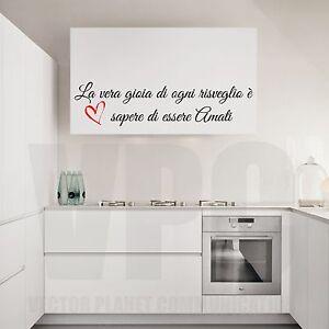 Wall stickers frasi cucina la vera gioia di ogni risveglio sapere essere a0245 ebay - Frasi sulla cucina ...