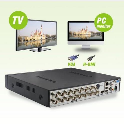 Security CCTV 8CH AHD DVR NVR HD IP CVI TVI Analog 5-IN-1 Hybrid Video Recorder