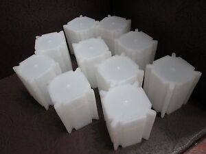 Lot of Three Square Coin Storage Tubes for Half Dollars by CoinSafe