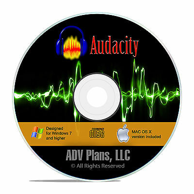 Audio Editing Recording Software, Audacity, Edit your own music sounds CD F16