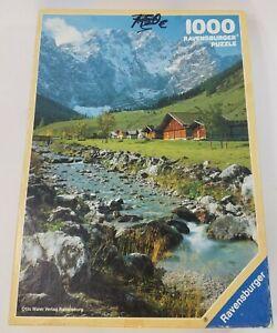 Vintage-ravensburger-paysage-montagne-nature-puzzle-1000-pieces