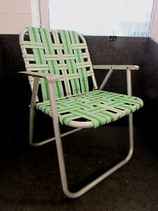 Folding Web Lawn Chairs.Details About Lightweight Aluminum Folding Webbed Lawn Chair Aluminum Arms Green