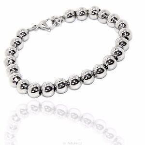 Bracciale Braccialetto Perle Sfere Palline In Acciaio Inox Uomo Donna Unisex Top