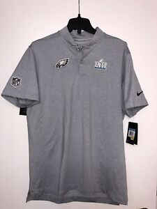 66b307e77e0 NIKE PHILADELPHIA EAGLES SUPER BOWL LII BOUND MEDIA NIGHT POLO SHIRT ...