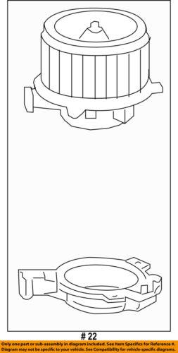 Cadillac GM OEM 10-16 SRX-Blower Motor 22957138
