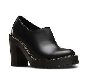 878032e70d4 Doc Dr. Martens Cordelia Dress Pump Platform Black Leather Slip On ...