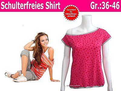 Schulterfreies Shirt selber nähen, Nähanleitung und Schnittmuster