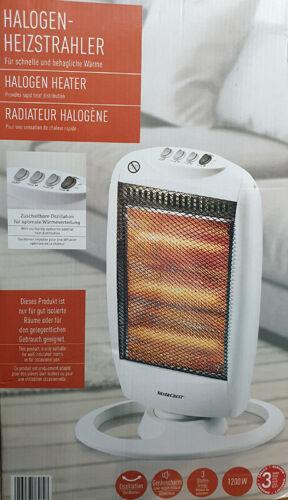 Halogen Heizstrahler Heizlüfter 3 Heizstufen energiesparend max 1200W Heizung