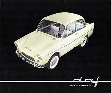 Daf 600 1961 USA & Canada Market Foldout Sales Brochure