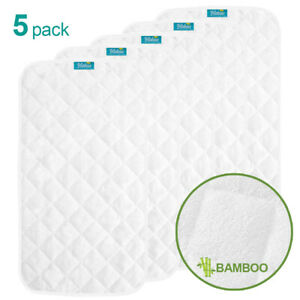 Infant-Ultra-Soft-Bomboo-Baby-Diaper-Changing-Pad-Cover-Liner-Waterproof-5-Pack