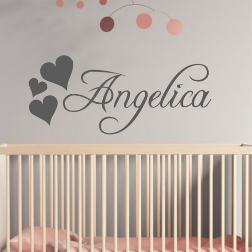 Personalised Fancy Calligraphy Style Bespoke Wall Sticker Decal NameNA43