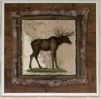 Alaskan Moose Ceramic Tile 6.00 X 6.00 Kiln Fired Wild Life Decor