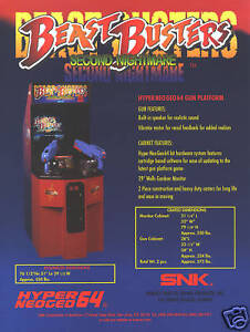 Arcade, Jukeboxes & Pinball Arcade Gaming 1999 Snk Beast Busters Second Nightmare Video Flyer Mint Elegant Appearance