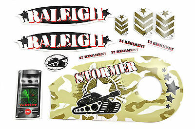 "DECAL SET-RALEIGH 12/"" DASH BLUE CAMO STICKER SUIT MANY OTHER KIDS BIKES WTFRDASH"