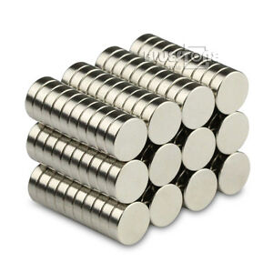 100x Strong Small Disc Round Neodymium Magnets 7 x 2 mm N50 Grade Rare Earth Neo